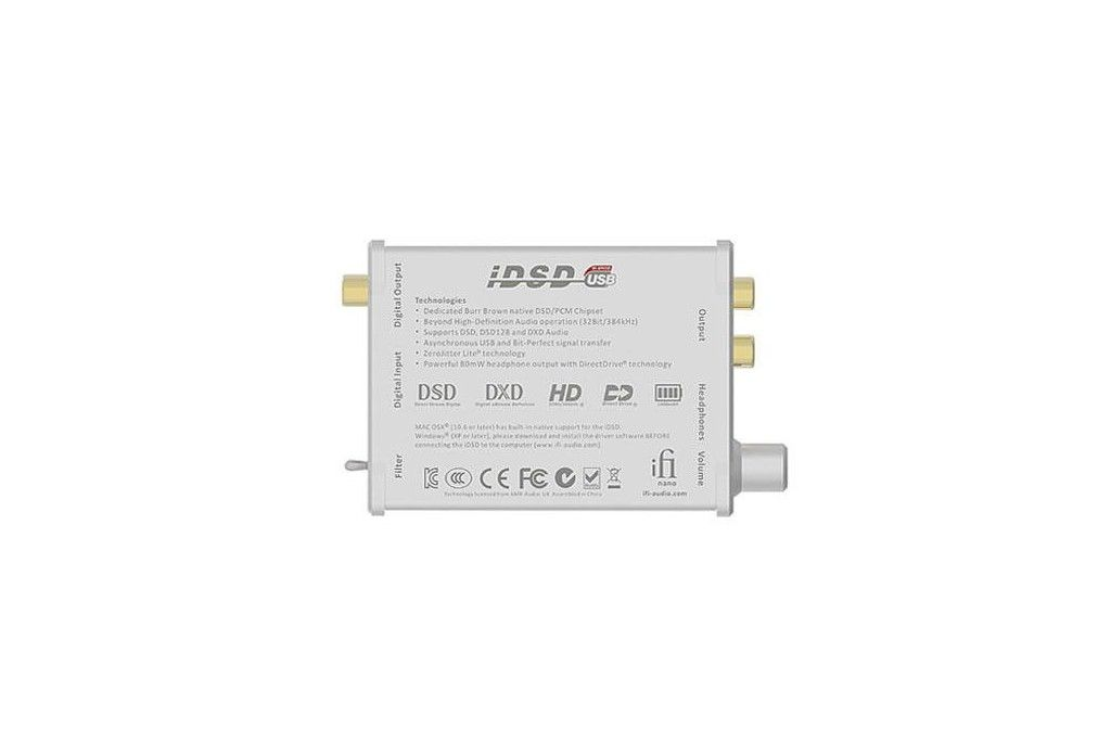 Amplificador DAC para auriculares iFi Audio iDSD.