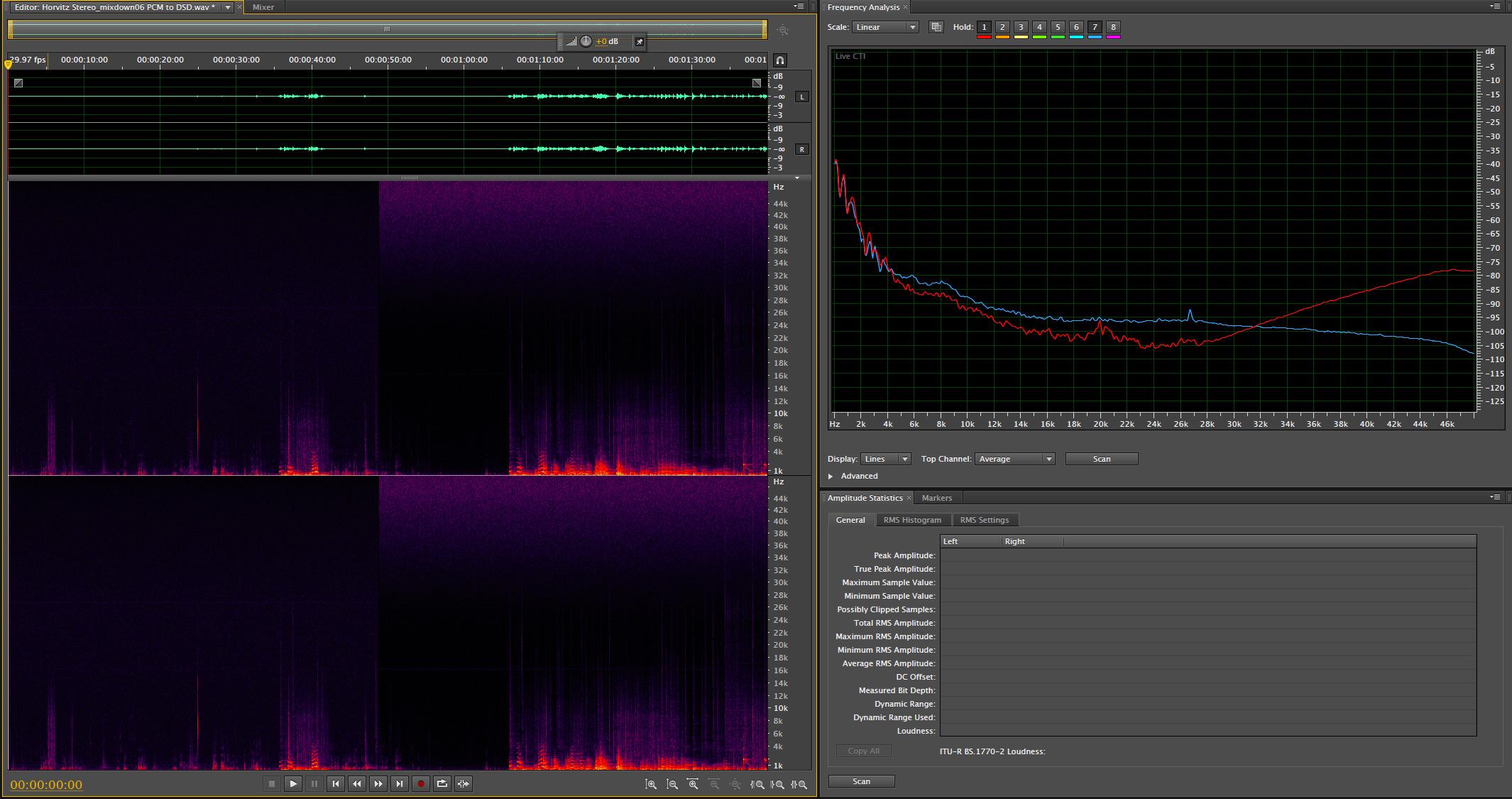 Ruido en archivos HD Audio PCM y DSD