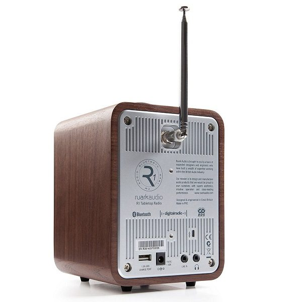 Ruark R1 MK3 Radio Altavoz Bluetooth inalámbrico marron parte trasera