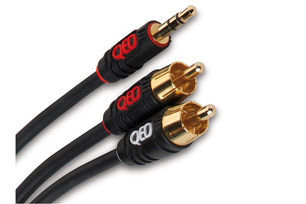 QED Profile J2J Cable de audio analógico Jack 35mm stereo macho 2 x RCA macho