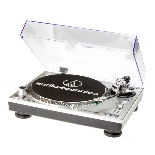 Audio Technica AT-LP120-USBHC Giradiscos profesional plateado