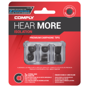 Comply Isolation Sennheiser T-167 Foam tips specially designed for Sennheiser earphones