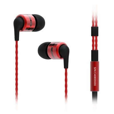 SoundMAGIC E80 auriculares in-ear IEM de color rojo
