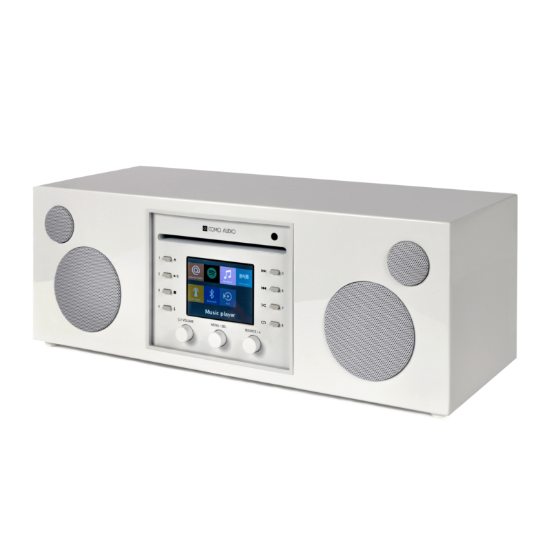 Como Audio Musica altavoz bluetooth con radio streaming WHITE