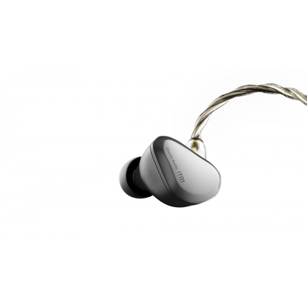 iBasso IT01 Auriculares in-ear audiófilos dinámicos con cable MMCX IEC desmontable