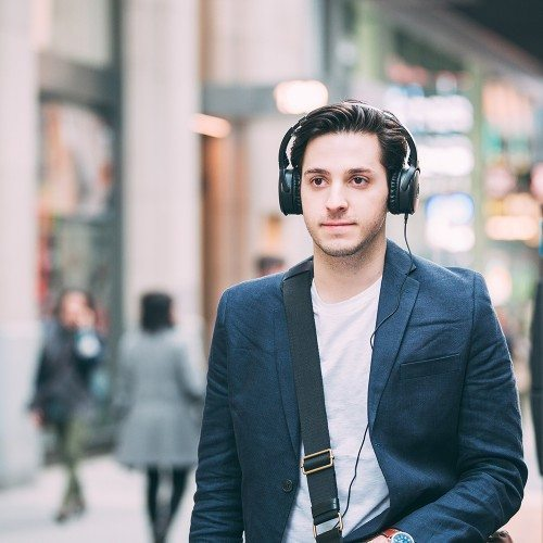 Audio Technica ATH-ANC50iS Auriculares on-ear con cancelación de ruido activa QuietPoint