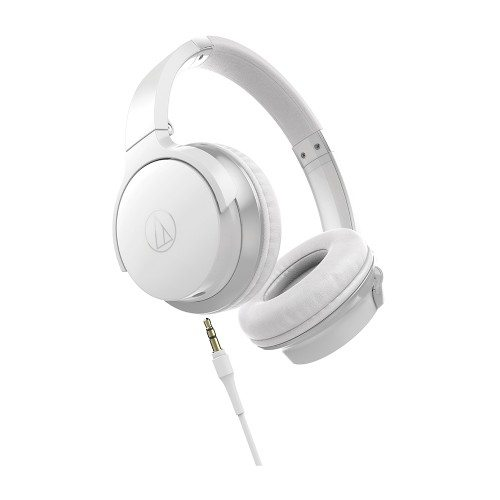 Audio Technica ATH-AR3iS Auriculares supraurales portátiles plegables blanco