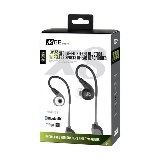 Mee Audio X8 Auriculares in-ear Bluetooth inalámbricos secure-fit deportivos negro