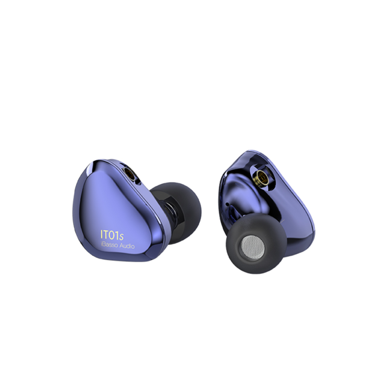 iBasso IT01s Auriculares In-ear intrauriculares blue mist azul