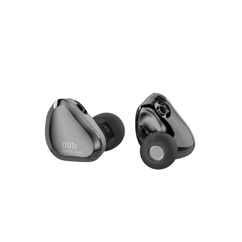 iBasso IT01s Auriculares In-ear intrauriculares smokey grey gris