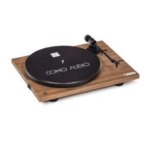 Como Audio Bluetooth turntable Walnut Nogal