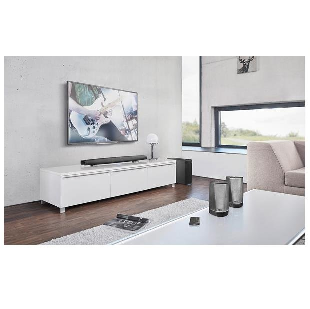 HEOS Home cinema HS2 Conjunto home cinema barra de sonido y subwoofer