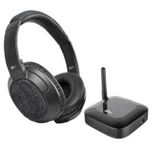MEE Audio Connect Hub + Matrix 3 - Transmisor Bluetooth con auriculares para televisor