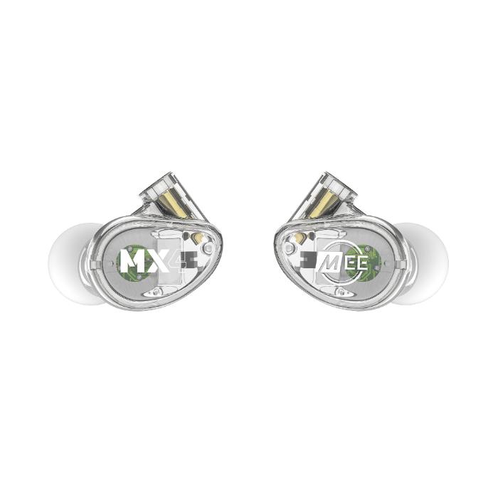 MEE MX4 PRO Auriculares híbridos con 4 drivers Transparente