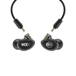 Mee MX3 PRO Auriculares in-ear híbridos con 3 drivers NEGRO