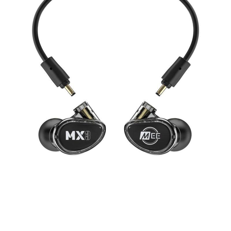 Mee MX3 PRO Auriculares in-ear híbridos con 3 drivers NEGRO