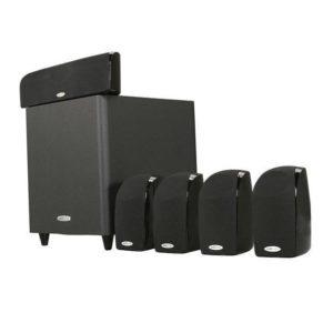 Polk TL1600 Sistema de sonido 5.1 surround de 6 piezas con subwoofer altavoces satélite y canal central TL1