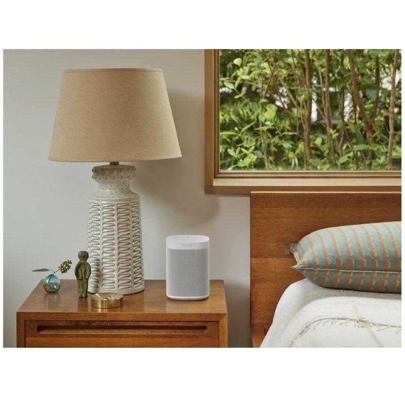 Sonos One SL otente altavoz con WiFi sin micrófono para música y más BLANCO