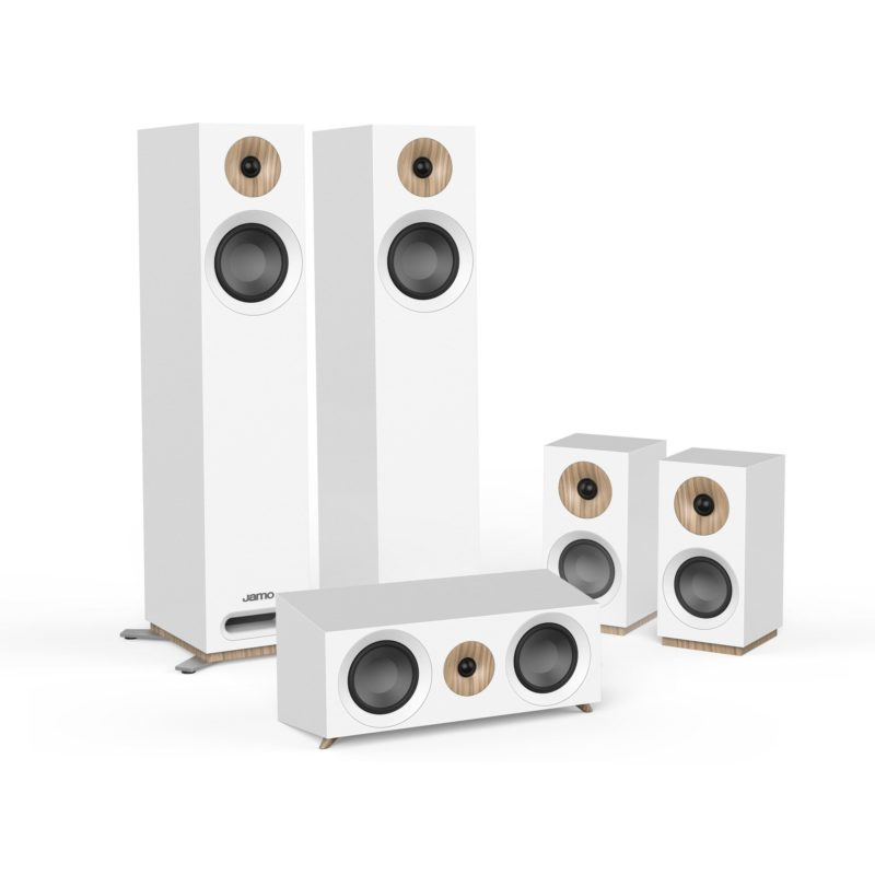 Jamo S 805 HCS Sistema completo de altavoces de cine en casa 5.0 BLANCO