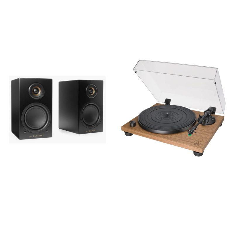 Audio Technica AT-LPW40WN giradiscos con altavoces activos Triangle Elara LN01A