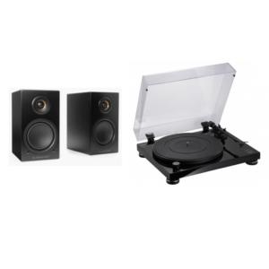 Tocadisco Audio Technica AT-LPW50PB con altavoces activos Triangle LN01A