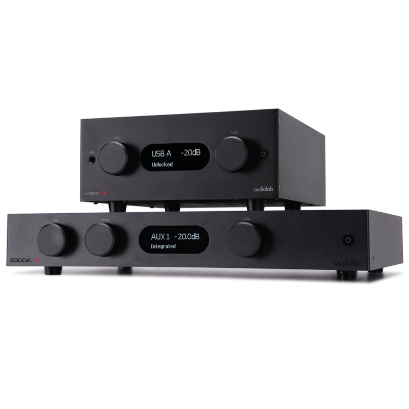 Audiolab MDAC plus negro con Audiolab 8300D